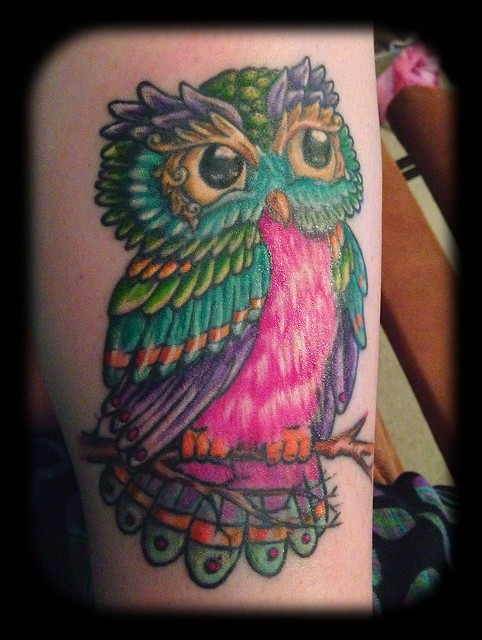 Cute Colorful Owl | Flickr - Photo Sharing!