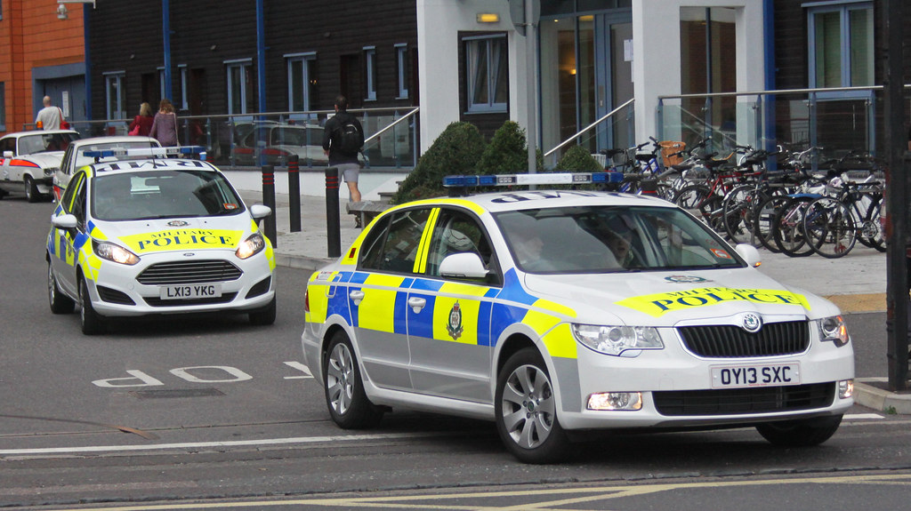 Royal Military Police Skoda Superb And Ford Fiesta Inciden
