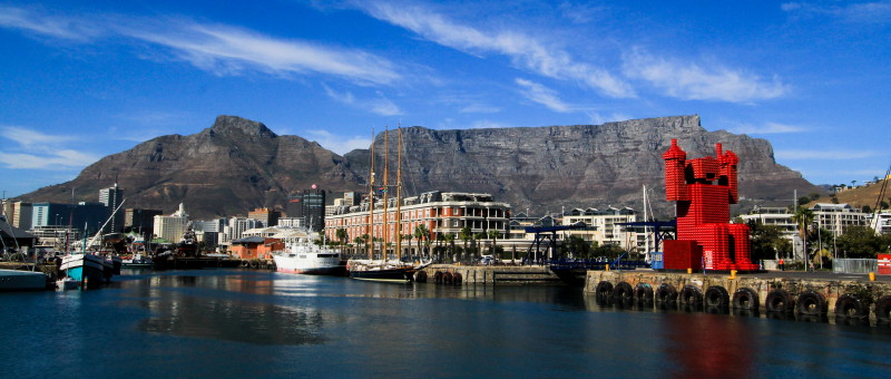 Victoria and Alfred (V and A) Waterfront in Cape Town South Africa
