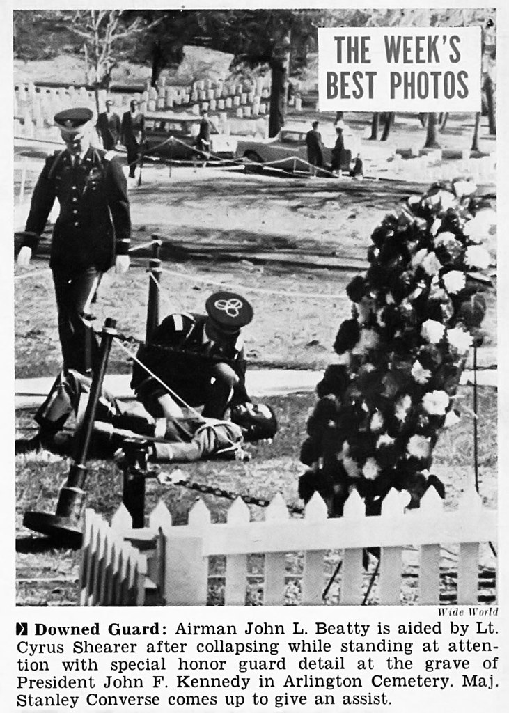 One of Special Honor Guard Detail for JFK's Grave Collapses - Jet ...