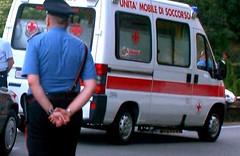 carabiniere e ambulanza