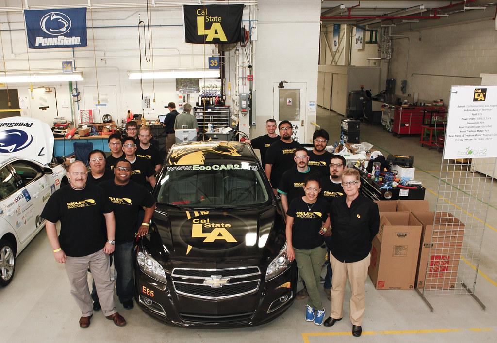 The Cal State La Team At General Motors Milford Proving Gr
