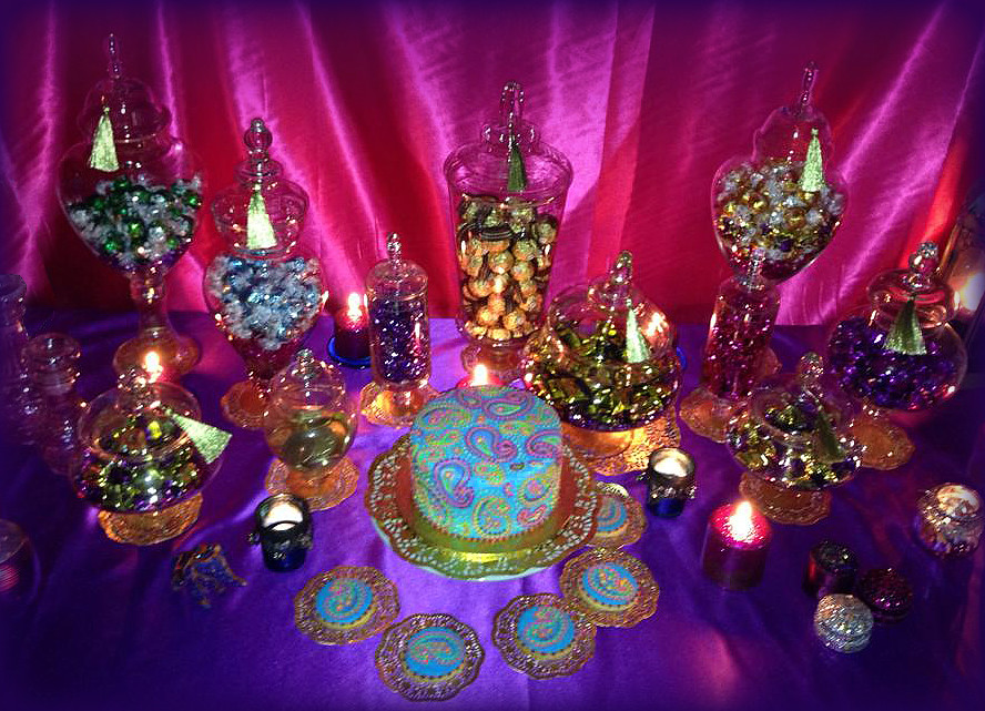 Bollywood Themed Lolly Table Bollywood Themed Cake And