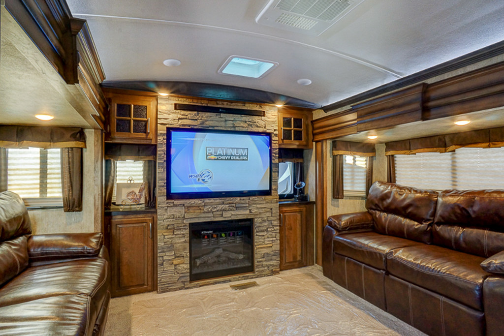 Montana 3791RD | Rear den with two hide a bed sofas and