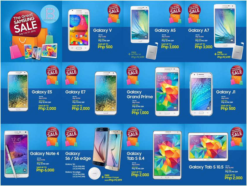 the great samsung sale pricelist