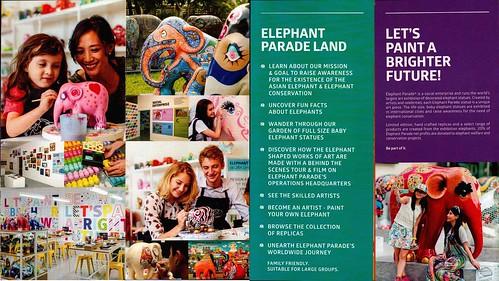 Brochure Elephant Parade Land Chiang Mai Thailand 2