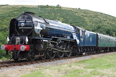 60163, A1 class 'Tornado' on the Swanage Railway, 13th July 2014