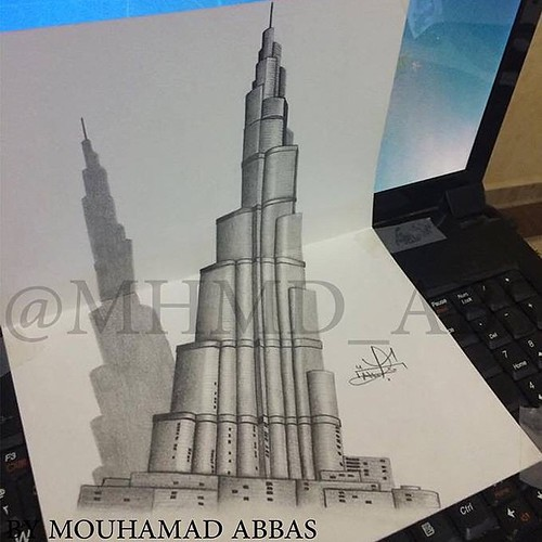 3d burj khalifa khalifatower khalifa tower burj for Burj khalifa sketch