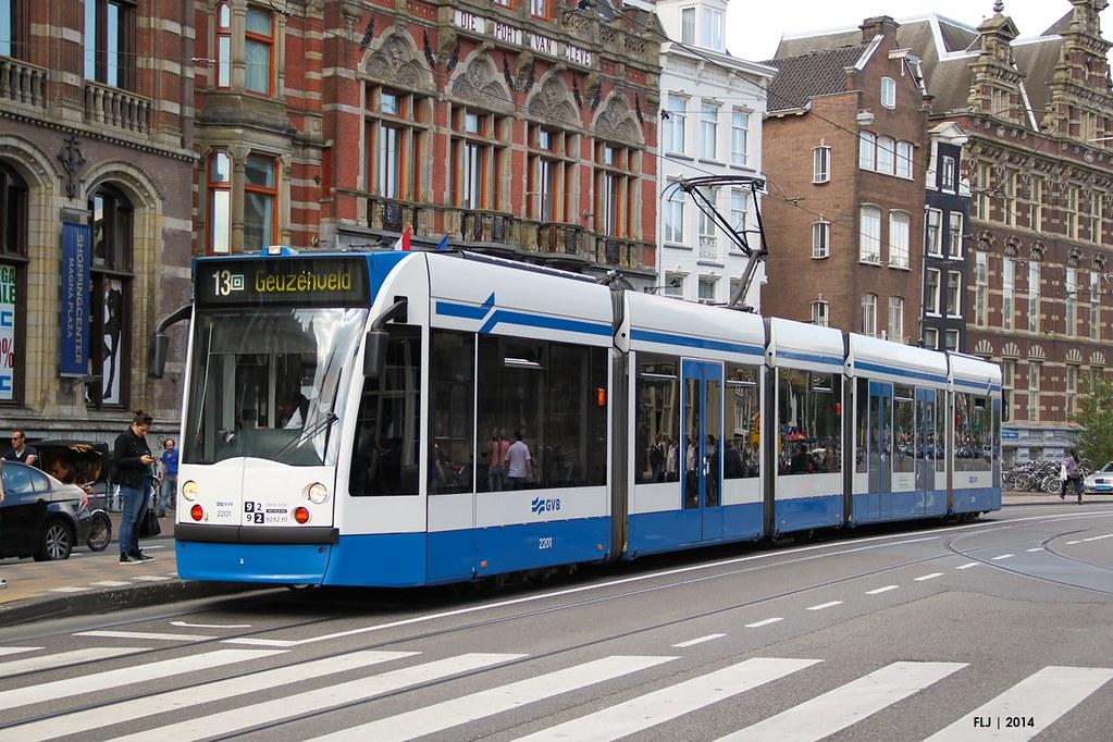 gvb siemens combino 14g c2a 2201 tram 13 nieuwezijd