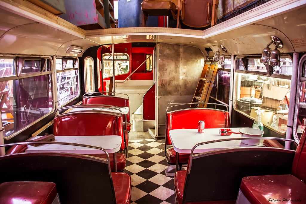 Vintage Double-Decker Bus Interior - Napier\'s Country Anti… | Flickr