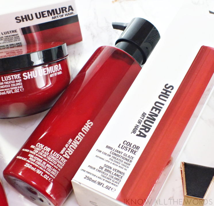 shu uemura art of hair colour lustre brilliant glaze conditioner