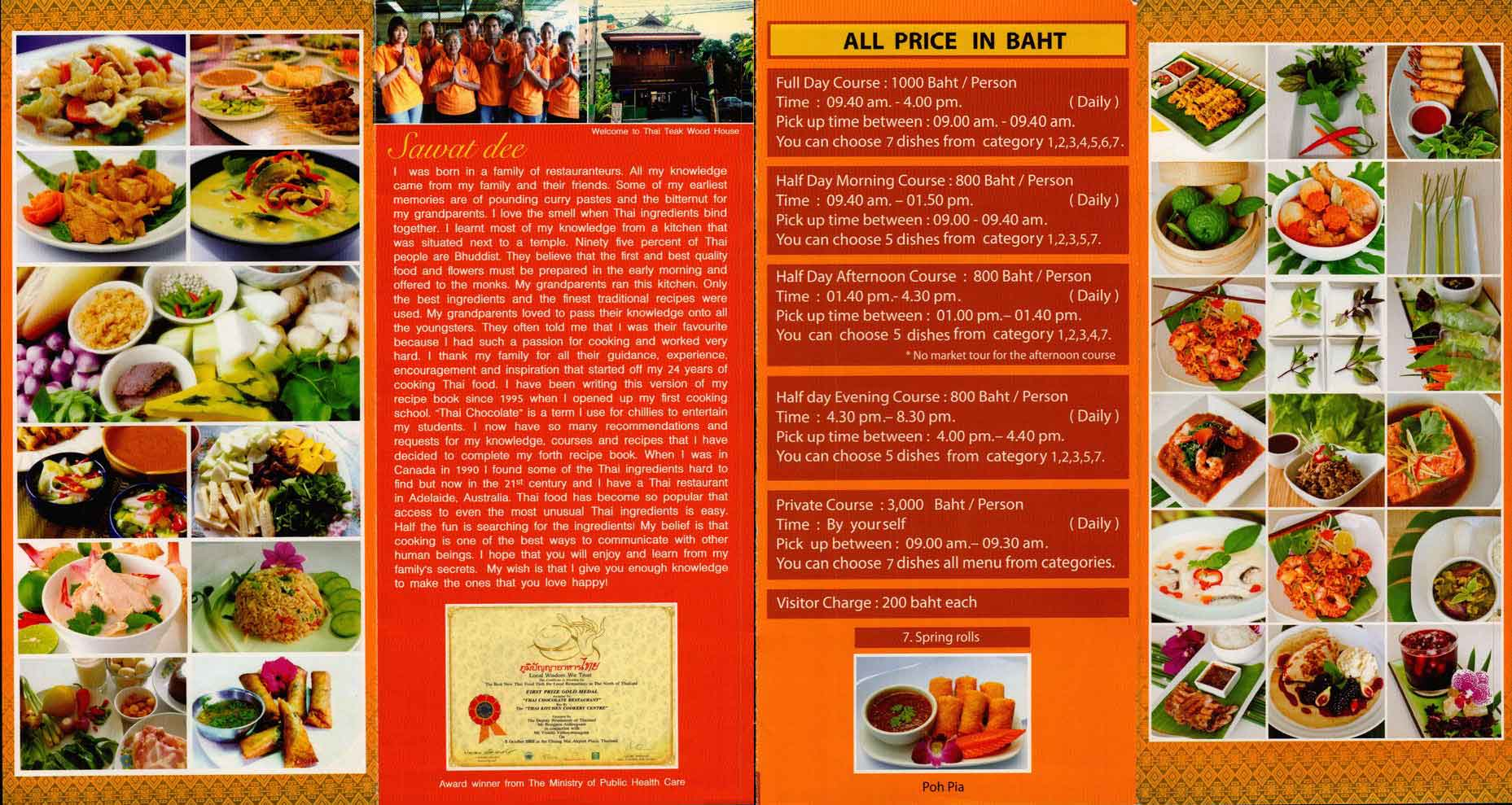 Thai Kitchen Cookery Centre Chiang Mai Thailand Brochure Reviews