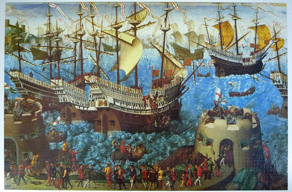 The embarkation of henry viii at dover falcon puzzle 500 for Custom 5000 piece puzzle