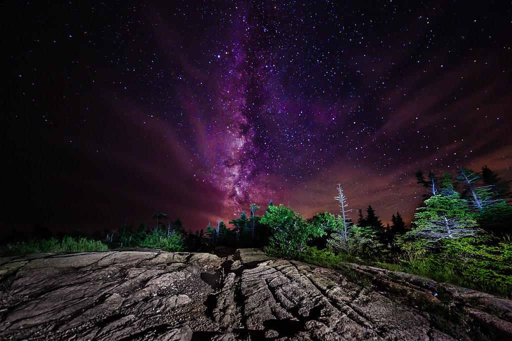 Milky Way over Cadillac Mountain   Taken atop the Cadillac ...