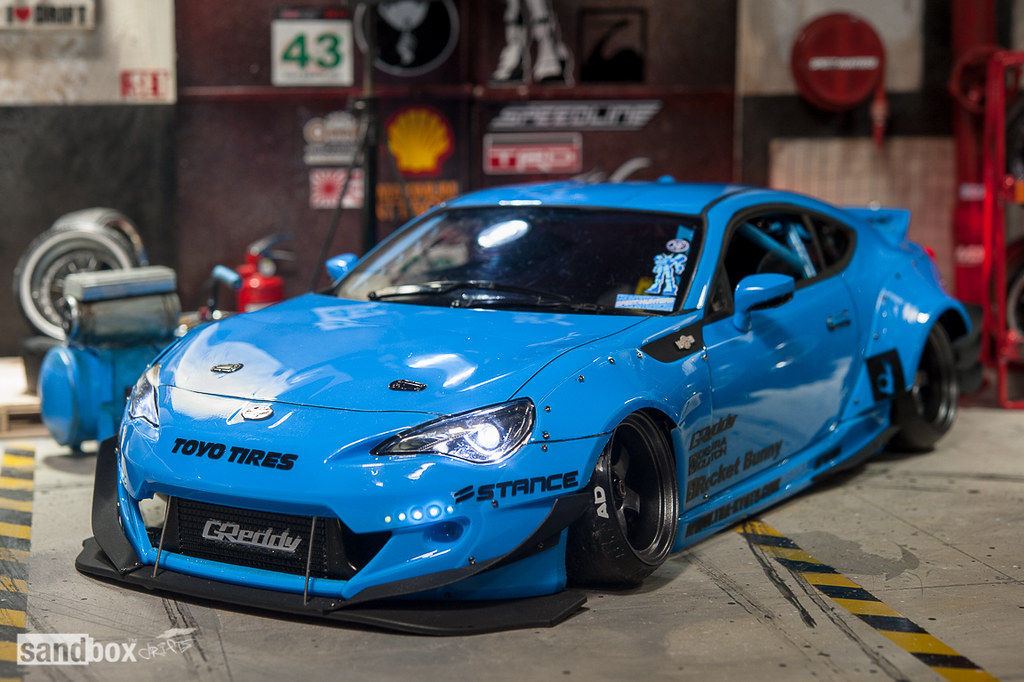 Blue Drift Car Paint