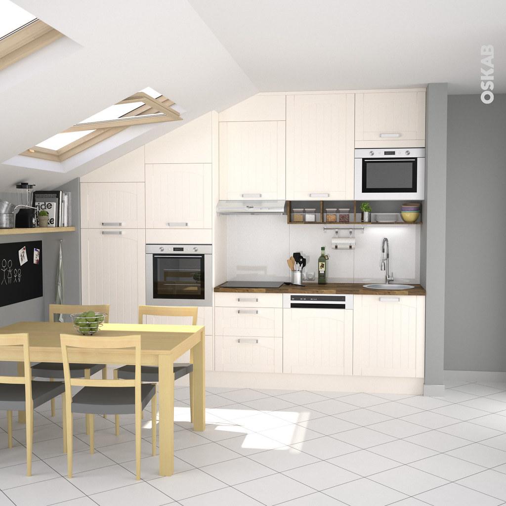cuisine cottage ivoire avec fa ade traditionnelle oskab flickr. Black Bedroom Furniture Sets. Home Design Ideas