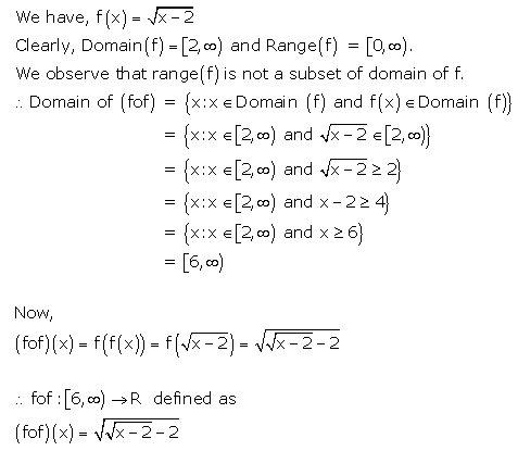 RD Sharma Class 12 Solutions Free online Chapter 2 Functions Ex2.3 Q11-i