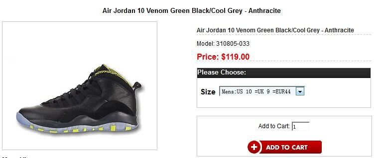 Jordan 10 Venom Green