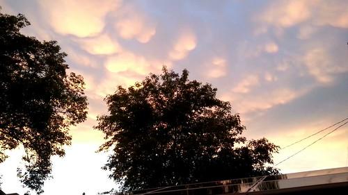 Mammatus clouds #skstorm #solar