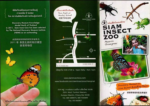 Brochure Siam Insect Zoo Chiang Mai Thailand 1