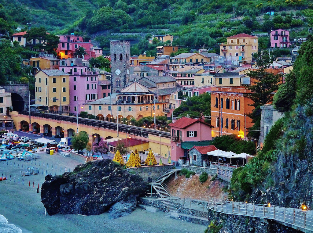 view of monterosso al mare italy from the hotel porto roc. Black Bedroom Furniture Sets. Home Design Ideas