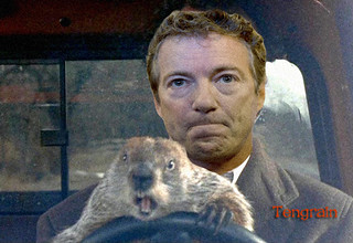 Rand Paul groundhog day driving