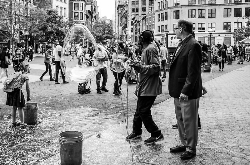Bubbles on Union Square
