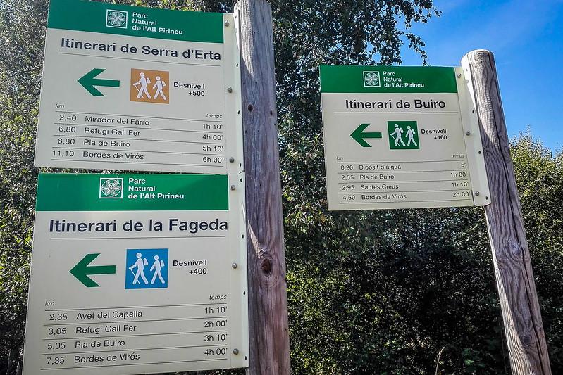 Señalización al Bosc de VIrós