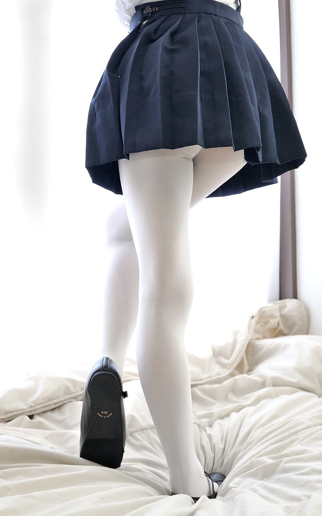 School Uniform With Black And White Shoes