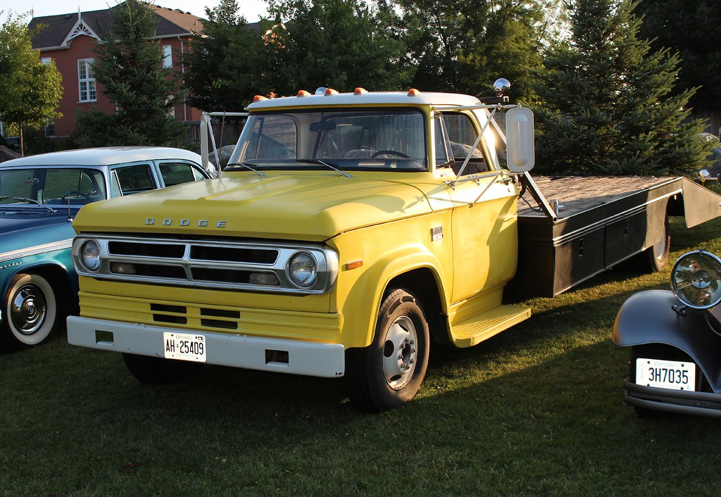 1970 Dodge D300 1 Ton Flatbed Truck Richard Spiegelman