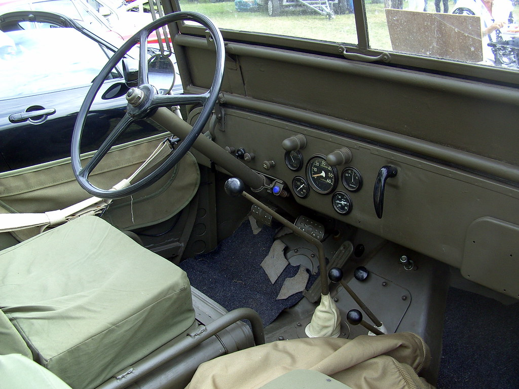1943 Willys Mb Jeep Dashboard And Steering Wheel David