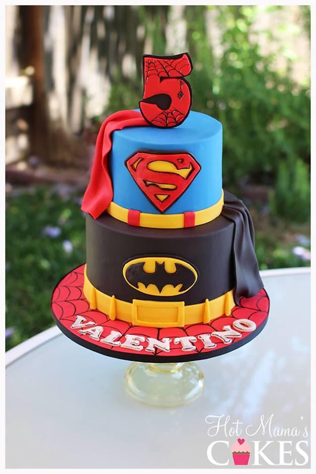 Shape Superhero Boy Birthday Cakes