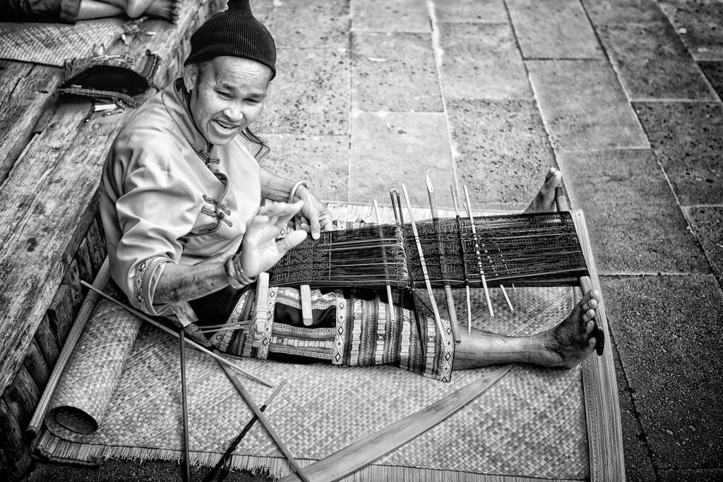 苗族紡織藝術 Miao (Hmong) Textile Art / 中國海南三亞 Sanya, Hainan, Ch ... Miao People Art