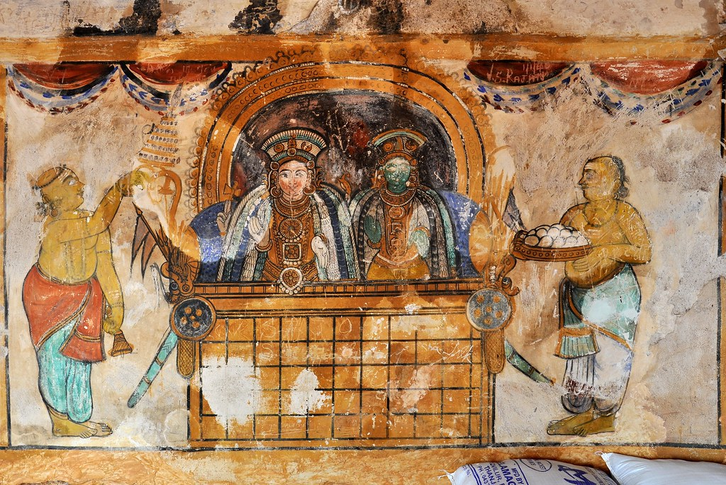 India tamil nadu thanjavur brihadisvara temple mura for Decor mural underground