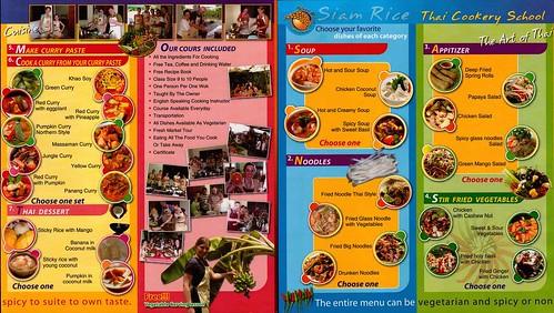 Brochure Siam Rice Thai Cookery School Chiang Mai Thailand 2