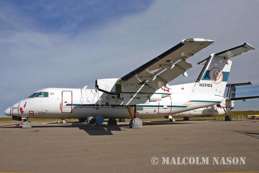 DHC8 N231ES ex VANAIR YJ-RV6 | Calgary 2004 - ended its days ...