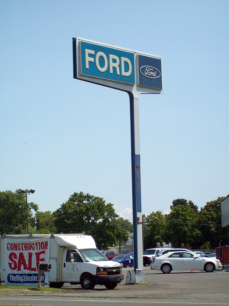 Old Ford Dealership Road Sign | You don\'t see many of these … | Flickr