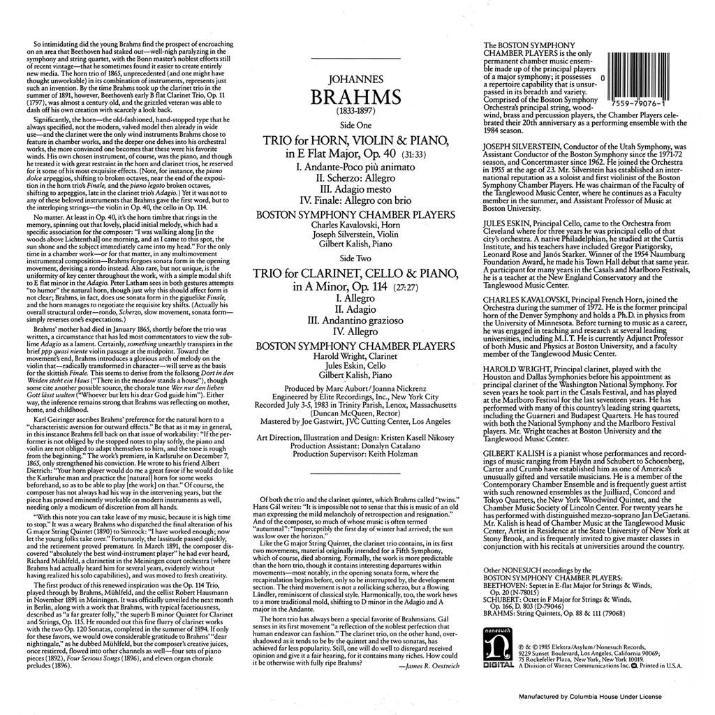 Johannes Brahms - Horn Trio