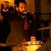 Josh Kelley singing and drumming