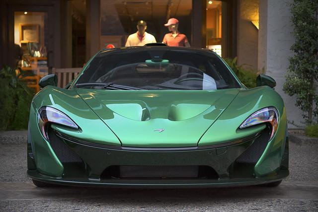 Green McLaren P1 | Michael Fux's Green McLaren P1 spotted ...