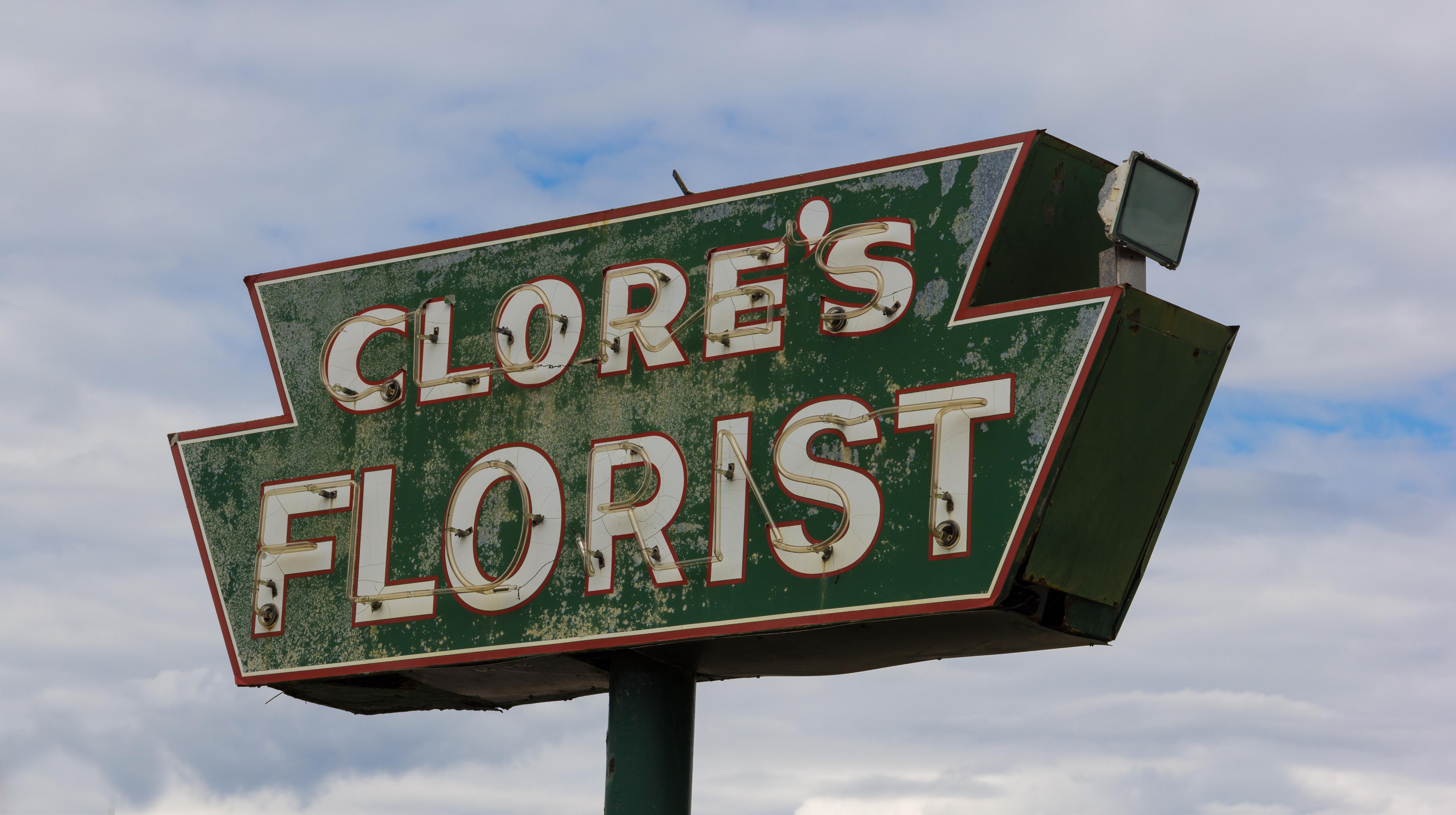 Clore's Florist - 9956 East Grand River Avenue, Brighton, Michigan U.S.A. - July 16, 2014