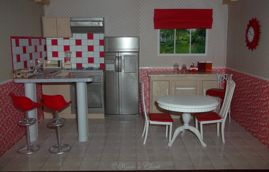 Painted Gloria Barbie Furniture Kitchen | Kate C | Flickr
