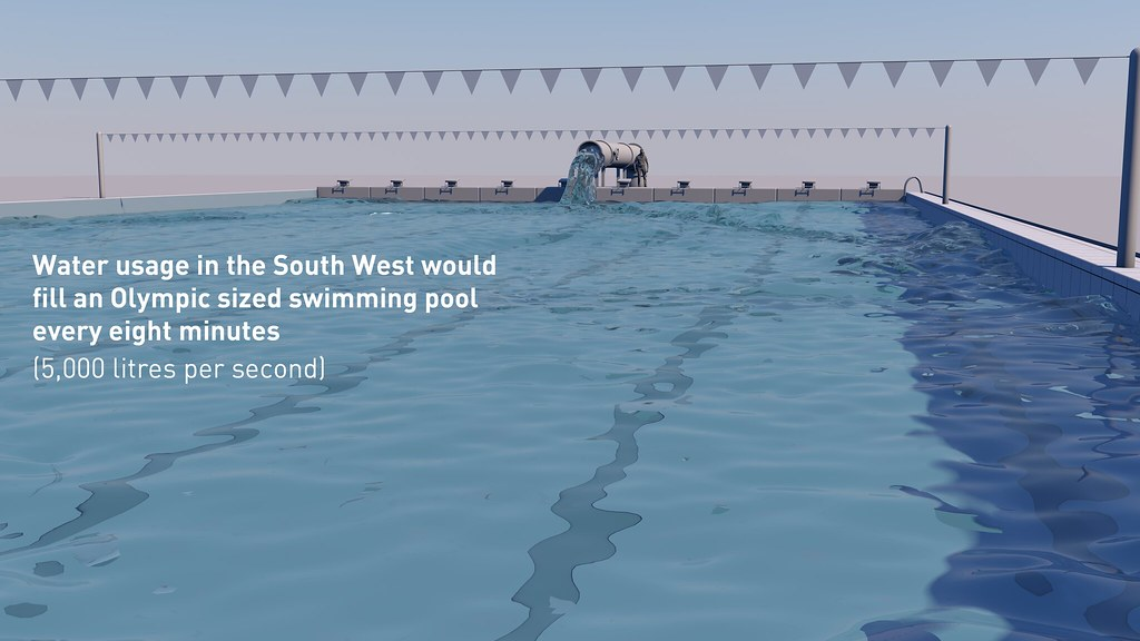 South west water swimming pool with caption south west - How many litres in a swimming pool ...