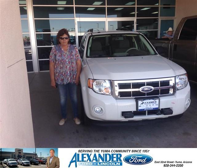 Alexander Ford Yuma Az >> Congratulations to Maria Castro on your #Ford #Escape ...