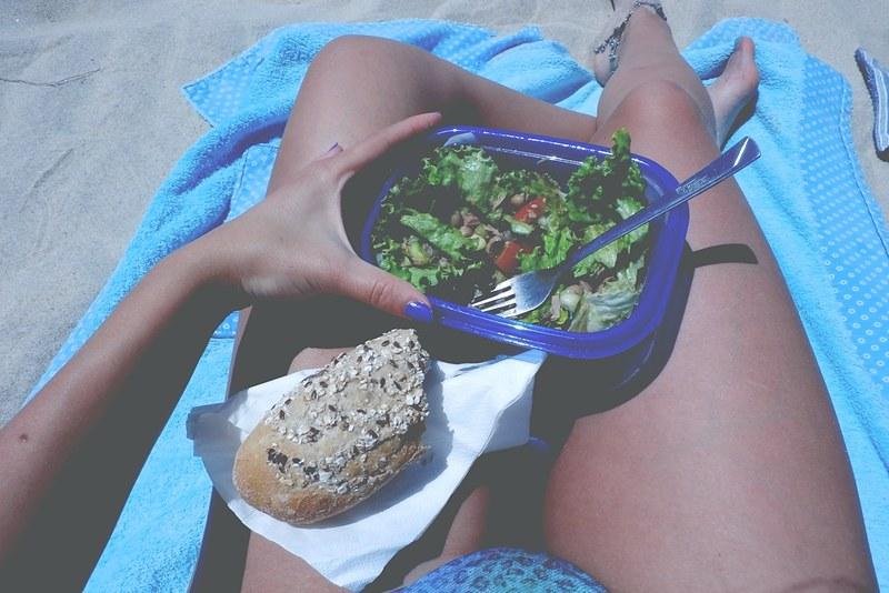 saudável na praia
