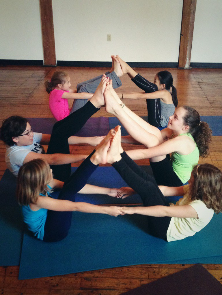 Modular Classroom Yoga : Partner boat pose lil asana at carrboro yoga company