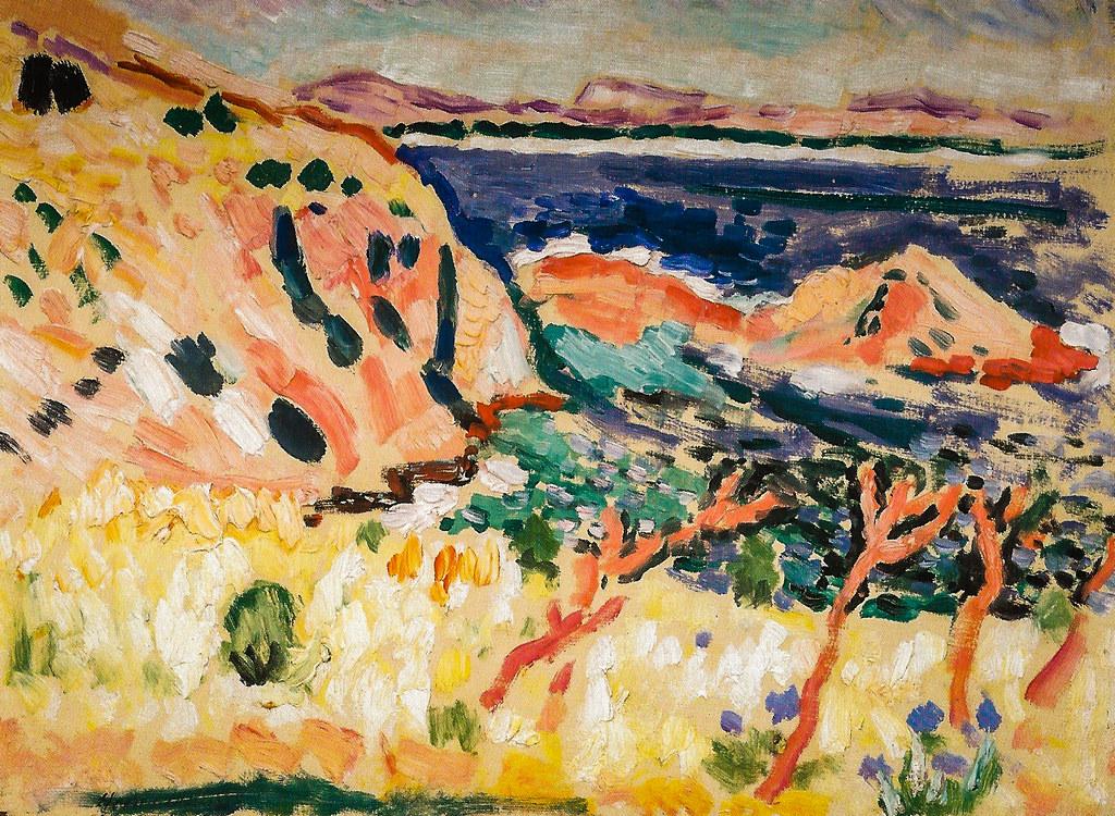 Henri matisse seascape la moulade 1906 at san francis for Le violoniste a la fenetre henri matisse