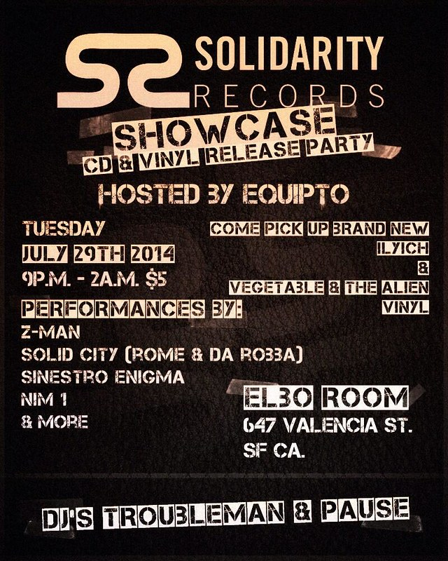 Solidarity Records Showcase @ Elbo Room