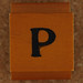 Rubber Stamp Letter P