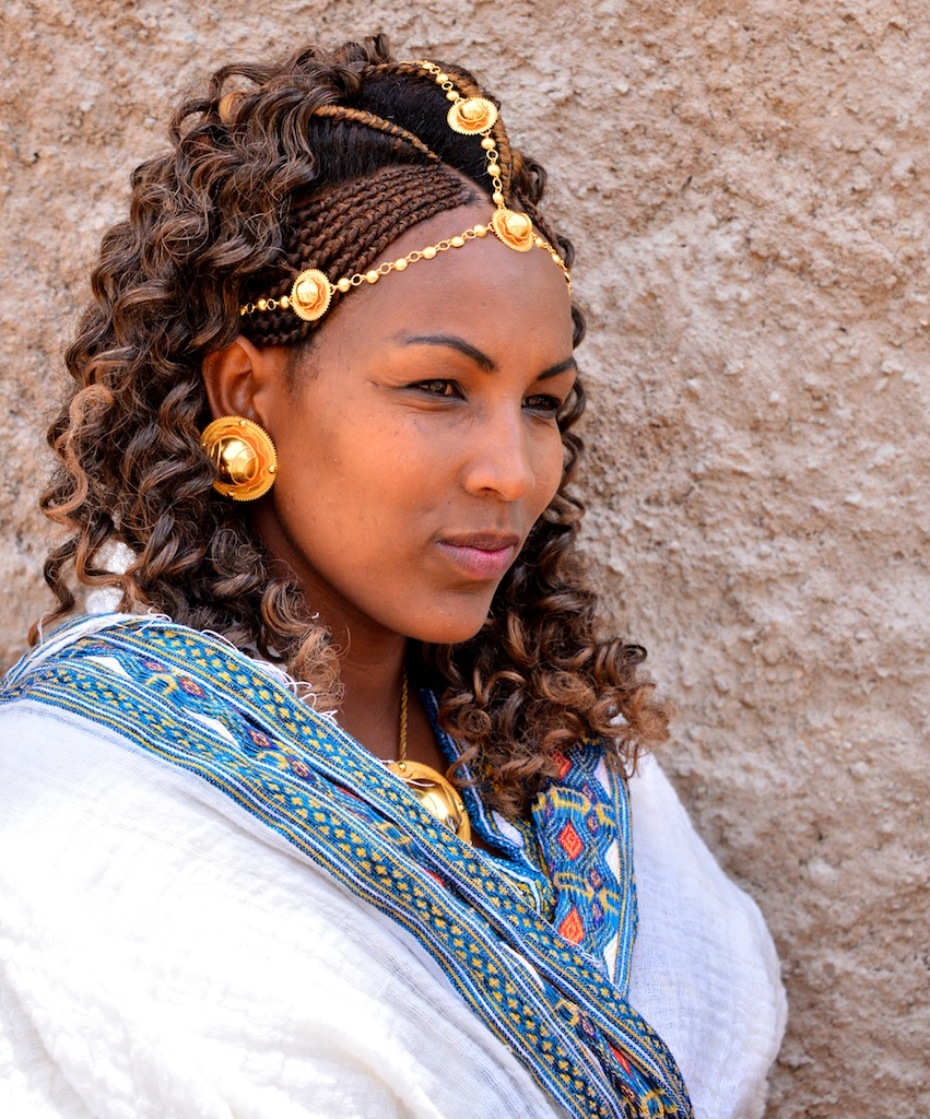 Traditional Bride Ethiopia Tigray Adigrat Rod